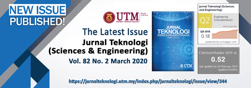 JURNAL TEKNOLOGI VOL. 82, NO 2 MARCH 2020